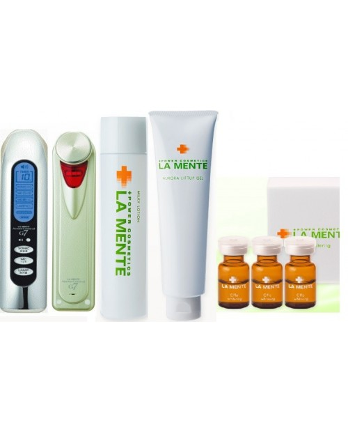 LA MENTE Set Aurora Ceutical G 7+C Pla 2ml×14+Milky Lotion+Aurora Liftup Gell 150ml +Clear Skin Soap