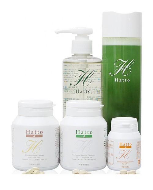 HATTO α, β, γ vitamines for hair groth /(Витамины для роста волос) + шампунь и кондиционер