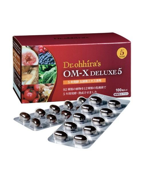 Dr. OHHIRА OM-X® Delux 5  (Probiotics) 100tab/Пробиотики OM-X®  Delux 5 от Dr. OHHIRА 100 капсул