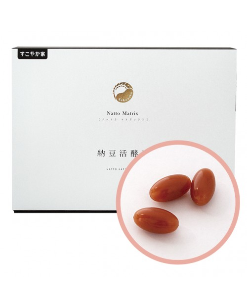 "Sukoyaka Home ""Natto Matrix "" 90 soft capsule"