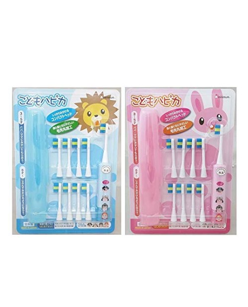 Minimum Kodomo no Ha Pica Kid's tooth brush set/ Электирческая зубная щетка детская - набор