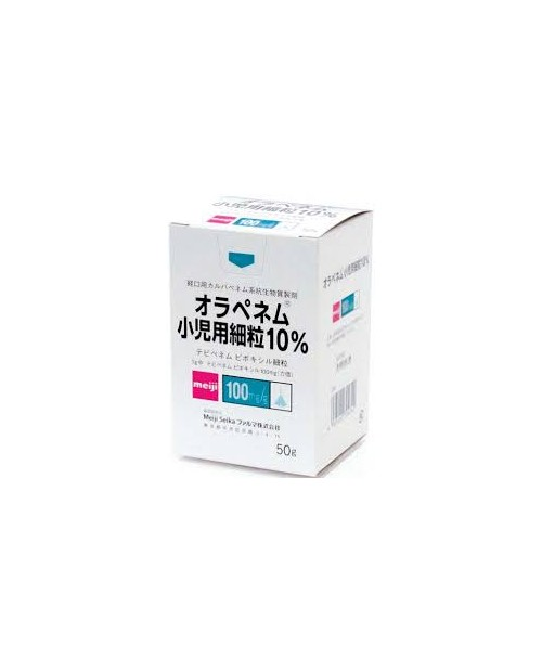 """Meiji seika""ORAPENEM FINE GRANULES 10% FOR PEDIATRIC 50g bottle"