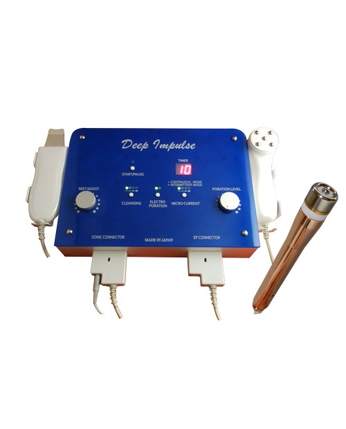 Deep Impulse-ultrasonic cleaning, electroporation, microcurrents, introduction of ions.