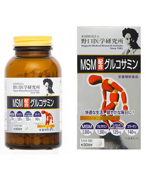 """Noguchi Medical "" Glucosamine with MSM (360 tablets)/ MSM и Глюкозамин на 30 дней"