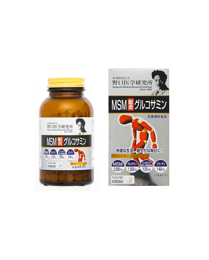 """Noguchi Medical "" Glucosamine with MSM (360 tablets)"