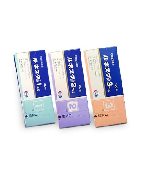 """Eisai"" Lunesta Tablets 1 mg 10 tabs x 10"